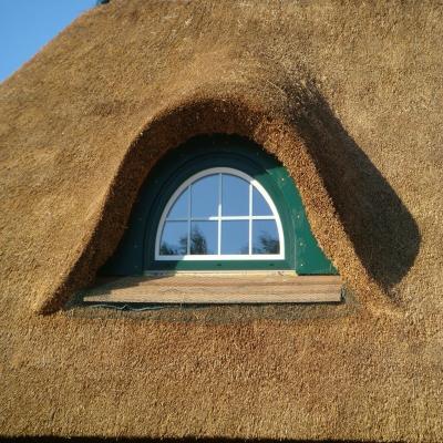 Das Gaubenfenster nach dem Einbau und dem fertigen Dach