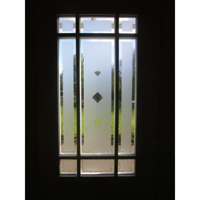 Ornament der Haustürfüllung von Innnen