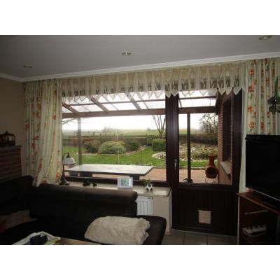 Terrassentür mit Fensterelement von innen